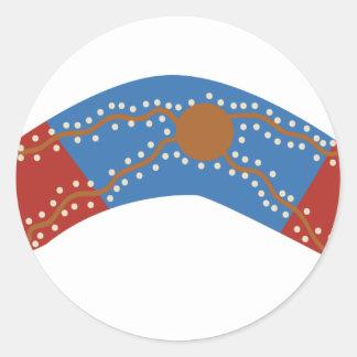 Bumerán australiano pegatina redonda