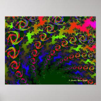 Bumeranes del arco iris póster