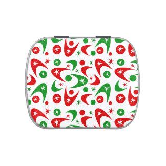 Bumeranes retros adaptables de Navidad Jarrones De Caramelos