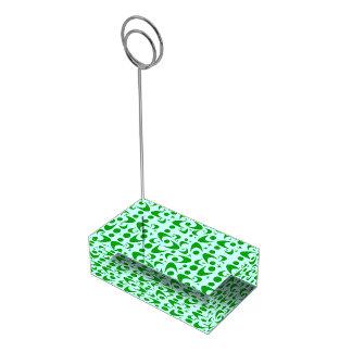 Bumeranes retros adaptables soporte de tarjeta de mesa