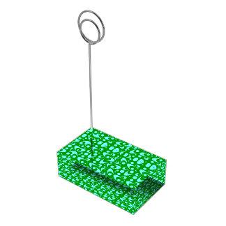 Bumeranes retros adaptables soportes de tarjeta de mesa