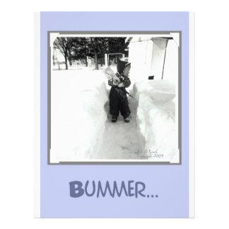 Bummer Boy with Snow Shovel Flyer