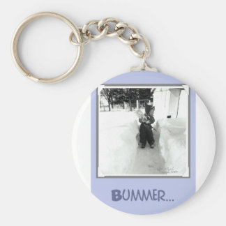 Bummer Boy with Snow Shovel Keychain