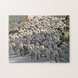 """""""Bummer"""" tricky sheeps bottoms jigsaw puzzle"""