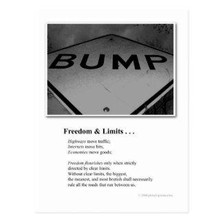 BUMP: FREEDOM & LIMITS POSTCARD