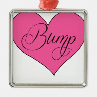 Bump Heart.png Metal Ornament