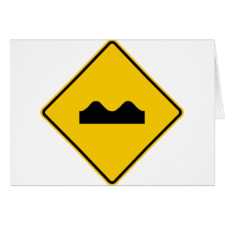 Bump Highway Sign (Picture) Card
