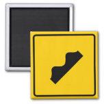 Bump Highway Sign (Picture) Fridge Magnet