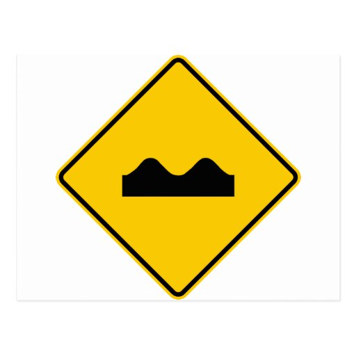 Bump Highway Sign (Picture) Postcard