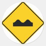 Bump Highway Sign (Picture) Round Sticker
