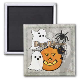 Bump in the Night Halloween 2 Inch Square Magnet