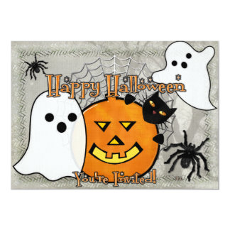 Bump in the Night Halloween 5x7 Paper Invitation Card