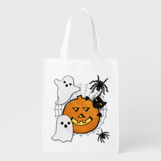 Bump in the Night Halloween Treat Reusable Grocery Bag