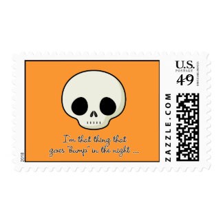 Bump In The Night Skull Postage