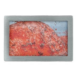 bump of lava flow rectangular belt buckle