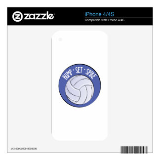 Bump Set Spike Decals For The iPhone 4S