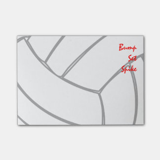 Bump Set Spike Player Volleyball Cells Post-it Notes