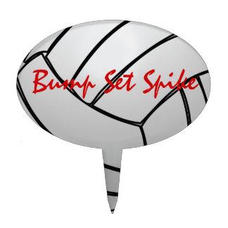Bump Set Spike Volleyball Cake Topper