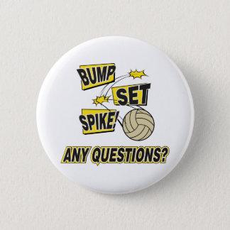Bump Set Spike Volleyball Gift Button
