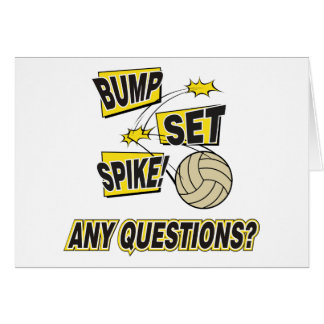 Bump Set Spike Volleyball Gift Greeting Card
