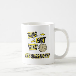Bump Set Spike Volleyball Gift Coffee Mug