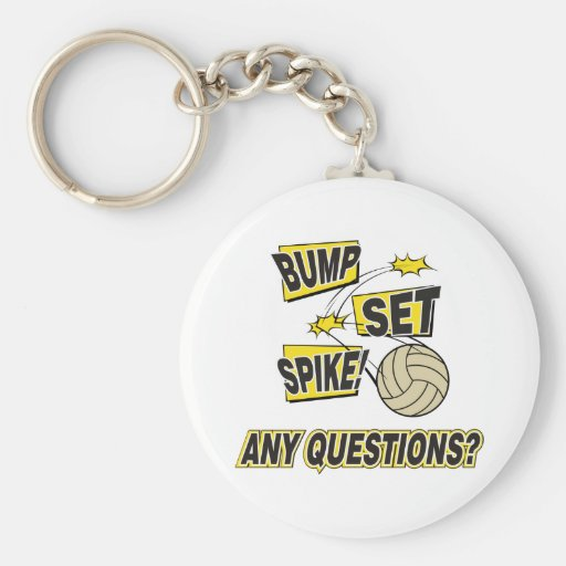 Bump Set Spike Volleyball Gift Key Chain