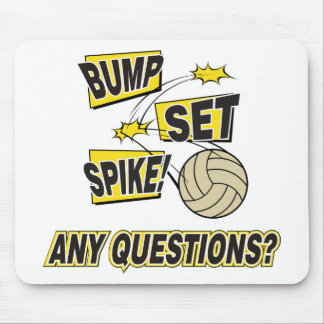Bump Set Spike Volleyball Gift Mouse Pad