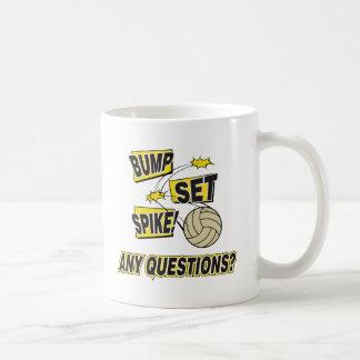 Bump Set Spike Volleyball Gift Mugs