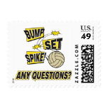 Bump Set Spike Volleyball Gift Postage Stamps