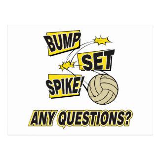 Bump Set Spike Volleyball Gift Postcard