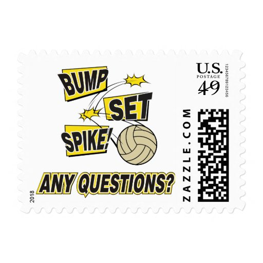 Bump Set Spike Volleyball Gift Stamp