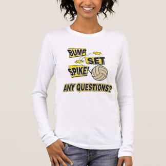 Bump Set Spike Volleyball Long Sleeve T-Shirt