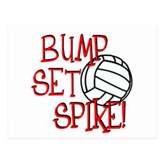 Bump, Set, Spike! Volleyball Postcard