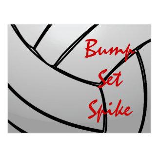 Bump Set Spike Volleyball Postcard