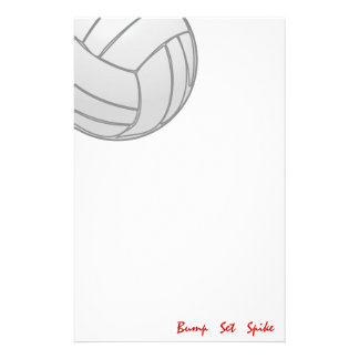 Bump Set Spike Volleyball Stationery