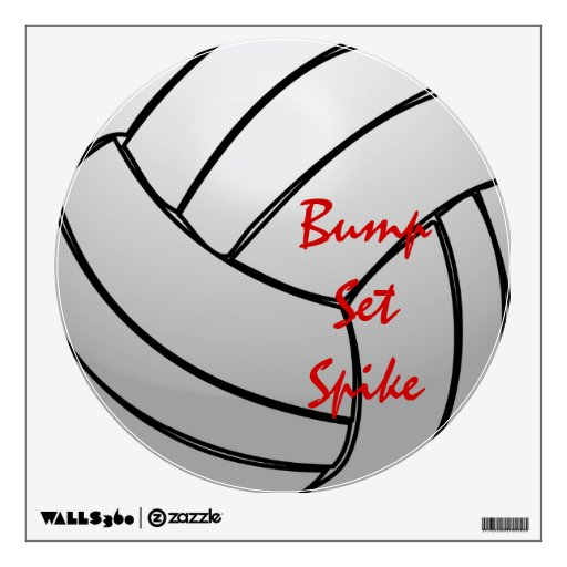 Bump Set Spike Volleyball Wall Decor Zazzle