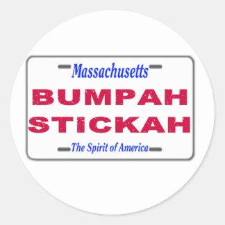 Bumpah Stickah Classic Round Sticker