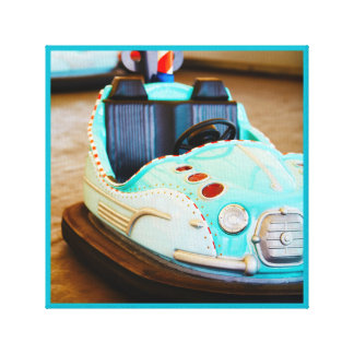 Bumper car amusement park canvas