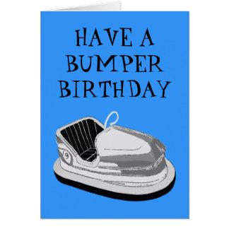 Bumper Car Birthday Card (Blue)