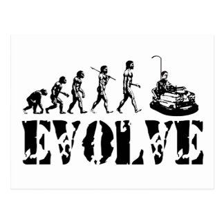 Bumper Cars Dodgem Fun Sport Evolution Art Postcard