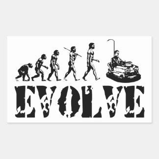 Bumper Cars Dodgem Fun Sport Evolution Art Rectangular Sticker