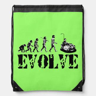 Bumper Cars Sports Green Drawstring Backpack