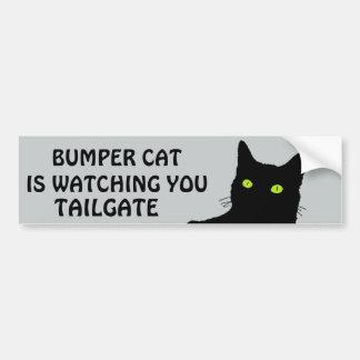 Bumper Cat is watching TAILGATE 29 Bumper Sticker