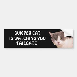 Bumper Cat is watching TAILGATE 33 Bumper Sticker