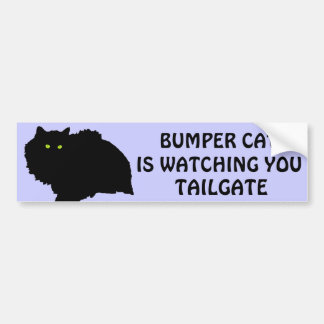 Bumper Cat is watching TAILGATE 9 Bumper Sticker