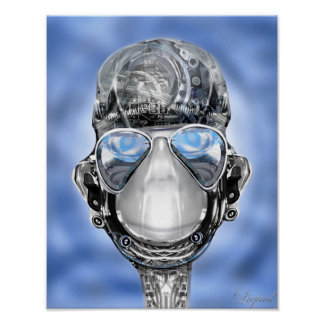 Bumper Cyborg Robot  Print