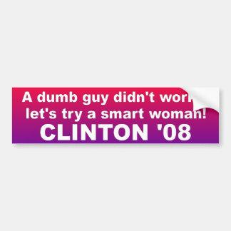 BUMPER dumb guy Car Bumper Sticker
