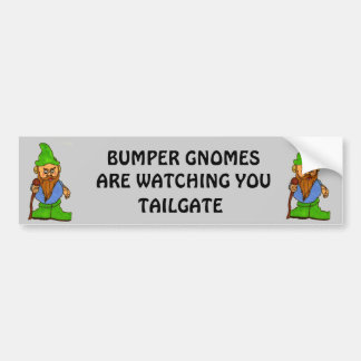 Bumper Gnomes Are Watching You Tailgate Car Bumper Sticker