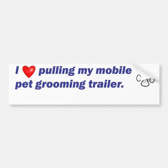 Bumper - I Love Pulling...Trailer Bumper Sticker