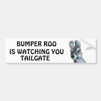 Bumper Roo is Watching You Tailgate Bumper Sticker